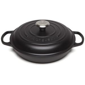Le Creuset Signature Cast Iron Shallow Casserole Dish - 26cm - Satin Black