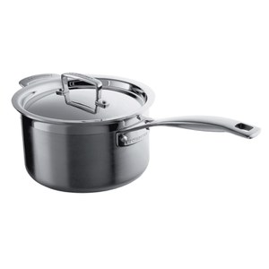 Le Creuset 3-Ply Stainless Steel Saucepan with Lid - 20cm