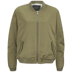 Maison Scotch Women's Sateen Bomber Jacket - Khaki