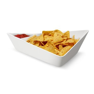 Black+Blum Forminimal Chip and Dip Bowl - White