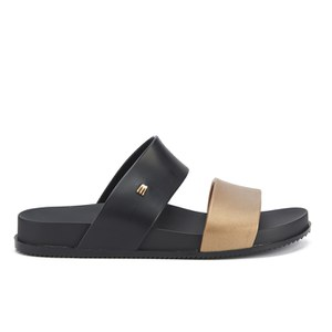 Melissa Women's Cosmic Double Strap Slide Sandals - Black