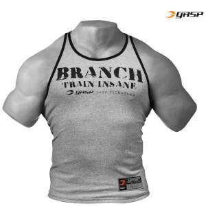 GASP Rib T-Back Vest - Grey Melange