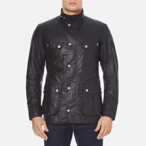 Barbour International Men's Duke Wax Jacket - Navy