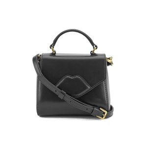 Lulu Guinness Women's Izzy Mini Lip Crossbody - Black