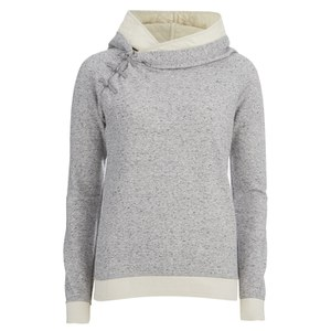 Maison Scotch Women's Home Alone Double Hooded Sweatshirt - Grey