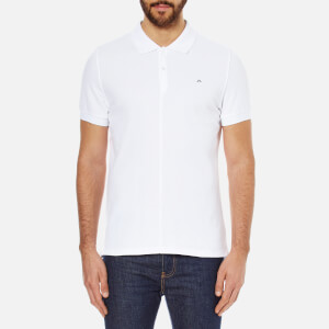 J.Lindeberg Men's Rubi Short Sleeve Polo Shirt - White