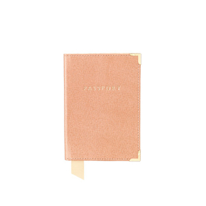 Aspinal of London Passport Cover - Deer Brown