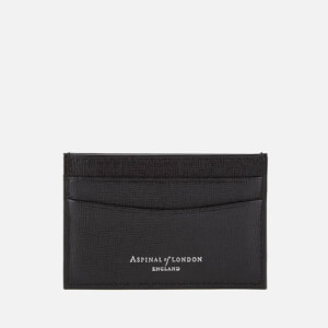 Aspinal of London Men's Slim Credit Card Case - Black Saffiano