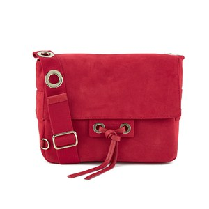 Vanessa Bruno Women's Suede Cross Body Bag - Red