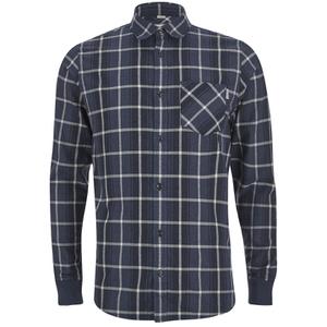 Carhartt Men's LS Sampras Shirt Rib-Knit Cuff - Labor Blue Heather