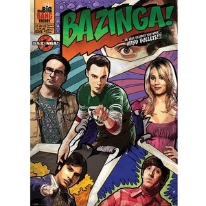 The Big Bang Theory Comic Bazinga - 40 x 55 Inches Giant Poster