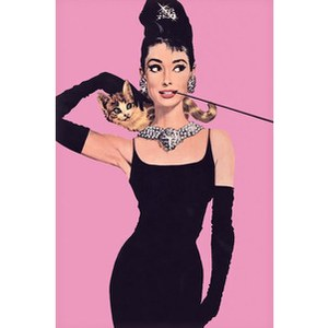 Audrey Hepburn Pink - 24 x 36 Inches Maxi Poster
