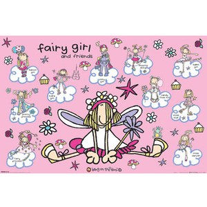 Bang on the Door Fairy Girl & Friends - 24 x 36 Inches Maxi Poster