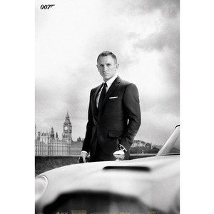 James Bond DB5 Skyfall - 24 x 36 Inches Maxi Poster
