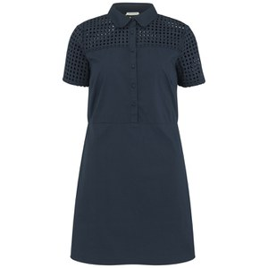 nümph Womens Fia Perforated Shirt Dress - Navy