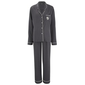 Wildfox Women's Buona Notte and Wildfox Logo Pyjama Set - Charcoal Grey/Vanilla