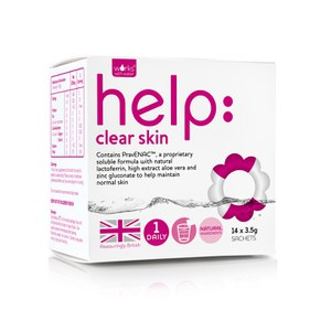 Suplemento soluble para la piel femenina Help: Clear Skin de Works with Water (14 x 3,5 g)