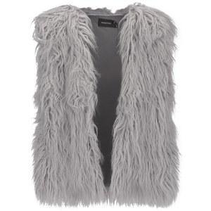 MINKPINK Women's Endless Shaggy Vest - Grey