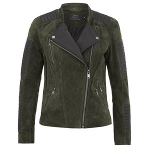 ONLY Womens Ava Suede Biker Jacket - Peat