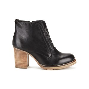 Ravel Women's Toronto Leather Lace Up Heeled Ankle Boots - Black