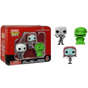 Disney Nightmare Before Christmas Pocket Mini Funko Pop! Figuren 3er Pack
