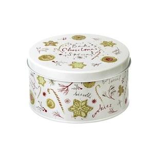 Parlane Christmas Cake Tin - White (100x180mm)