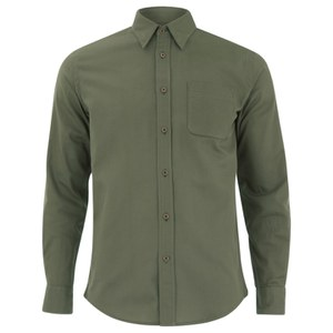 Knutsford x Tripl Stitched Men's Long Sleeve Woven Pique Shirt - Khaki