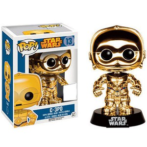 Star Wars POP! Vinyl Wackelkopf-Figur C-3PO (Gold Chromed)
