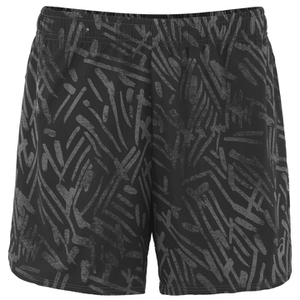 Asics Women's Woven 5.5 Inch Running Shorts - Black Palm
