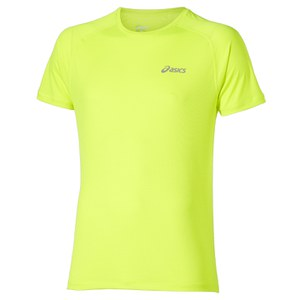 Asics Men's Short Sleeve Running T-Shirt - Safety Yellow