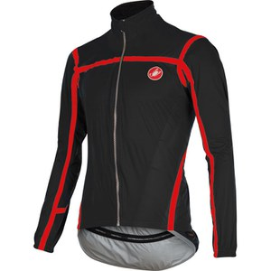Castelli Pave Jacket - Black/Red