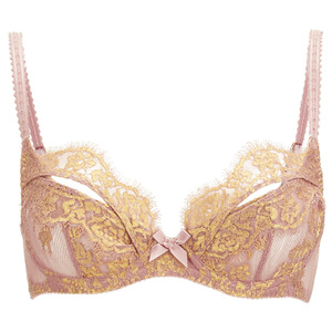 L'Agent by Agent Provocateur Women's Iana Non-Padded Balcony Bra - Taupe/Gold