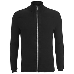 HUGO Men's Sottoman Zip Through Knitted Cardigan - Black