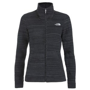 The North Face Women's Crescent Sunset Full Zip Fleece - TNF Black Stria