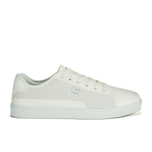 Beck & Hersey Men's Remis Perforated Trainers - White