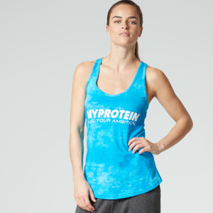 Myprotein Frauen Stringer Top Batik-Design, Blau
