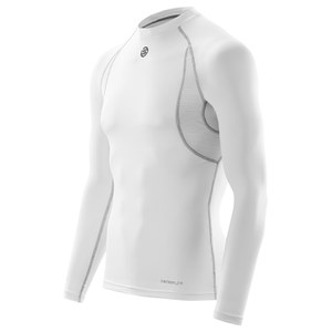 Skins Carbonyte Men's Thermal Long Sleeve Round Neck Baselayer - White