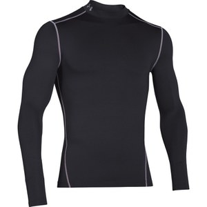 Under Armour Men's ColdGear Armour Compression Long Sleeve Top - Black