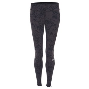 adidas Women's Supernova Graphic Long Running Tights - Brown/Black