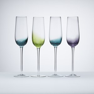 Anton Studio Designs Set of Four Fizz Champagne Flutes