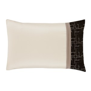 Catherine Lansfield Geo Embellished Pillowcases - Black