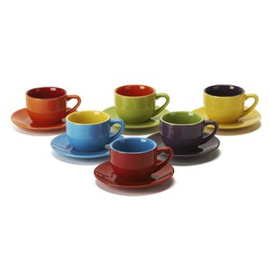 Bia Set of 6 Espresso Cups and Saucers