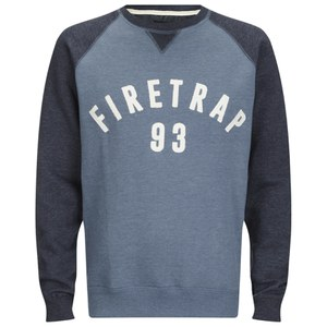Firetrap Men's Rumsey Crew Neck Raglan Sweatshirt - Captain Blue