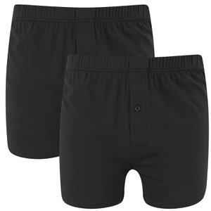 Wolsey Men's Twin Pack Jersey Boxer Shorts - Black