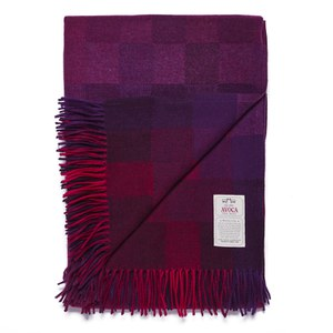 Avoca Spectrum Lambswool Throw - Berry (142cm x 183cm)