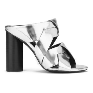 Senso Women's Xanthe II Chrome Strappy Mule Sandals - Silver