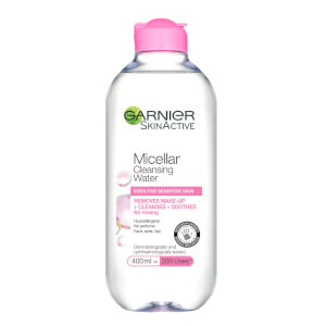 Garnier Micellar Water Facial Cleanser and Makeup Remover for Sensitive Skin 400ml
