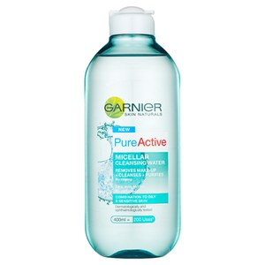 Garnier Pure Active Micellar Water facial cleanser Oily Skin 400ml