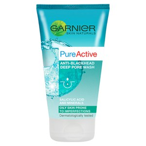 Garnier Pure Active Anti Blackhead Deep Pore Face Wash Oily Skin 150ml