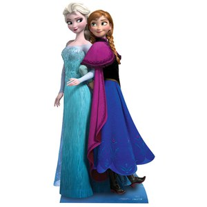 Disney Frozen Anna & Elsa Lifesized Cardboard Cut Out